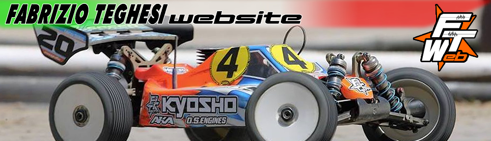 Fabrizio Teghesi driver 1:8 buggy con Kyosho, Energy fuel, Hotrace tyres, FTTech, Efra tools, Hudy, Max Airbrush, Dreamsticker, Rideandrollkrew..